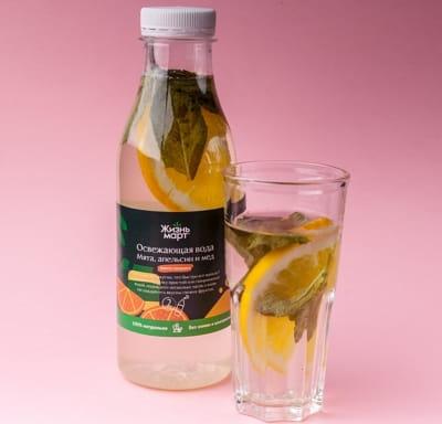 Освежающая вода Мята, апельсин и мед