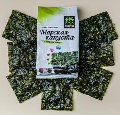 Морская капуста Midori обжаренная с зеленым чаем