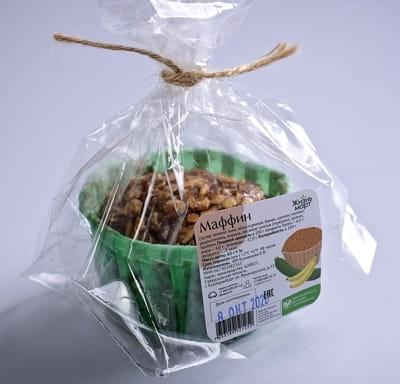 Протеиновый капкейк с цукини и семенами льна