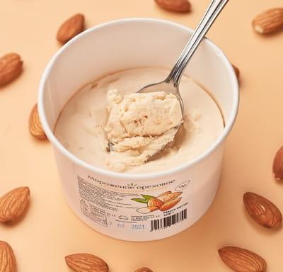 Мороженое ореховое на миндальном молоке