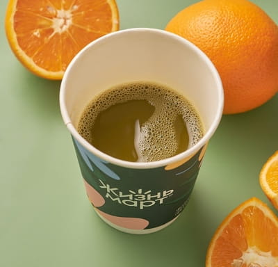 Горячая апельсиновая матча
